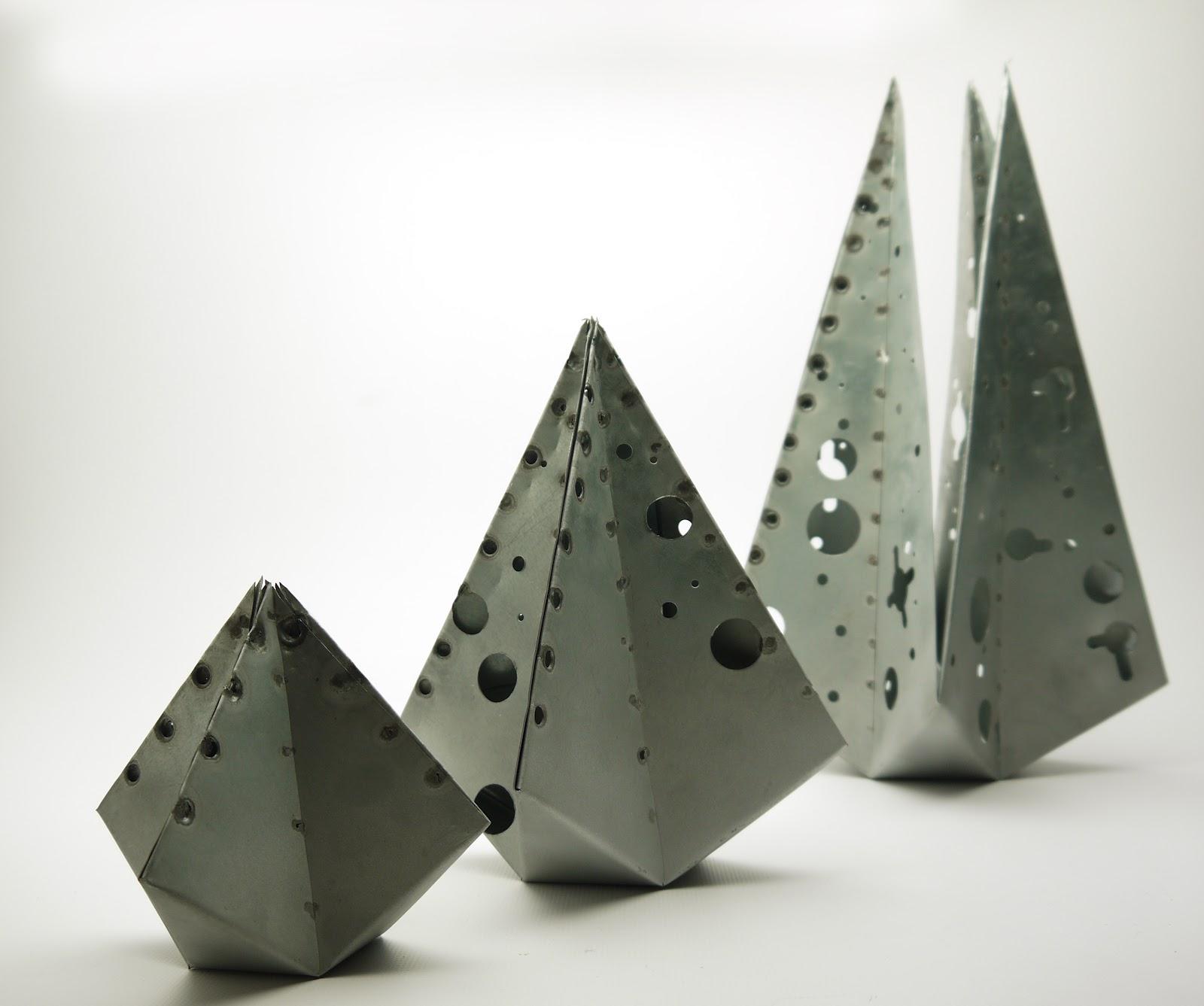 Folded sheet metal sculpture mtnsaremyhome