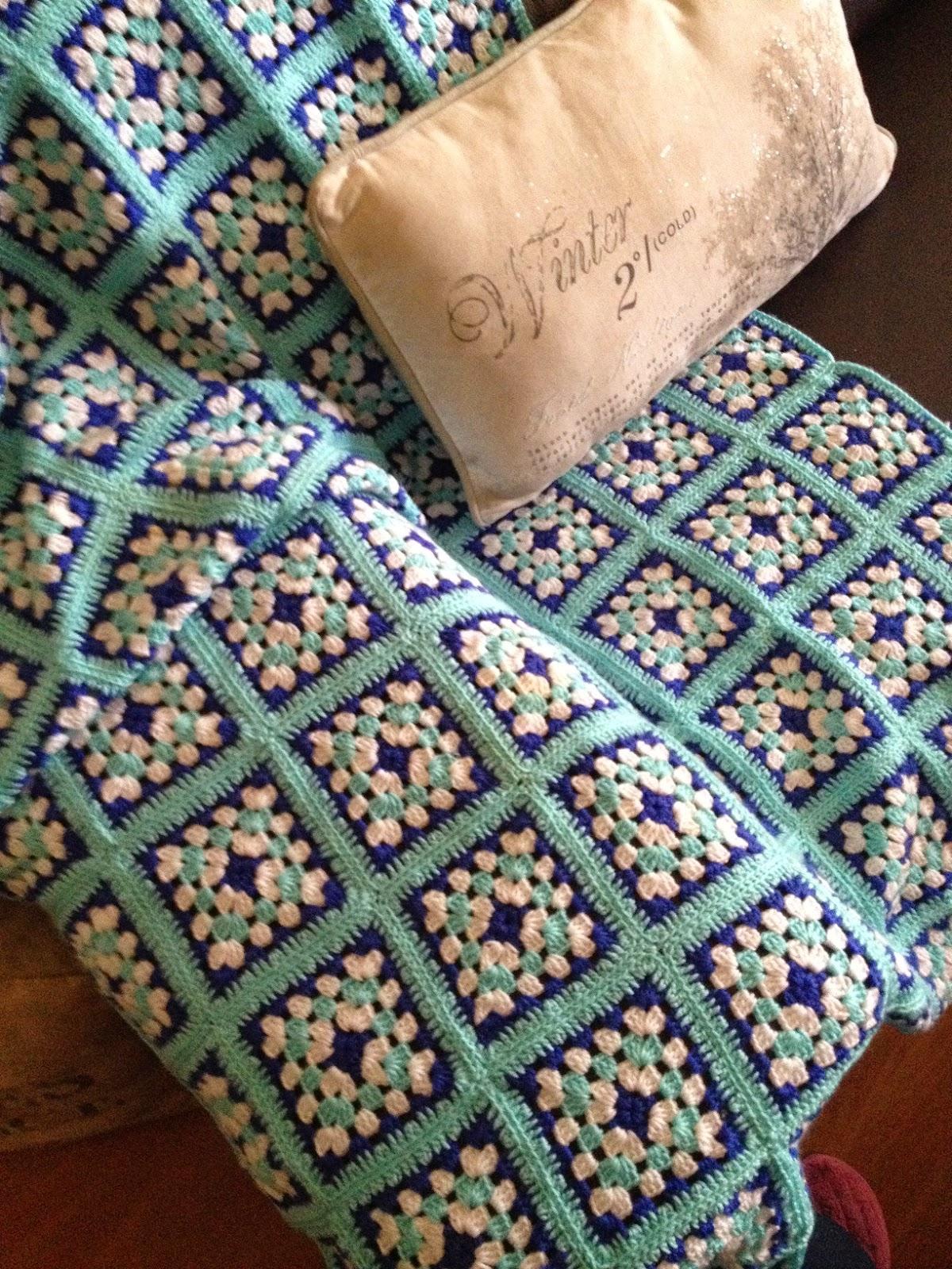 Manualizando manta a crochet - Manta de crochet facil ...
