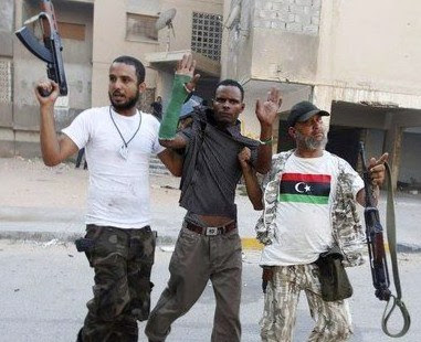 NATO Terrorists Execute Civilians While Waiting for Syrian Army LibyaRebelsRoundingUpBlacks2