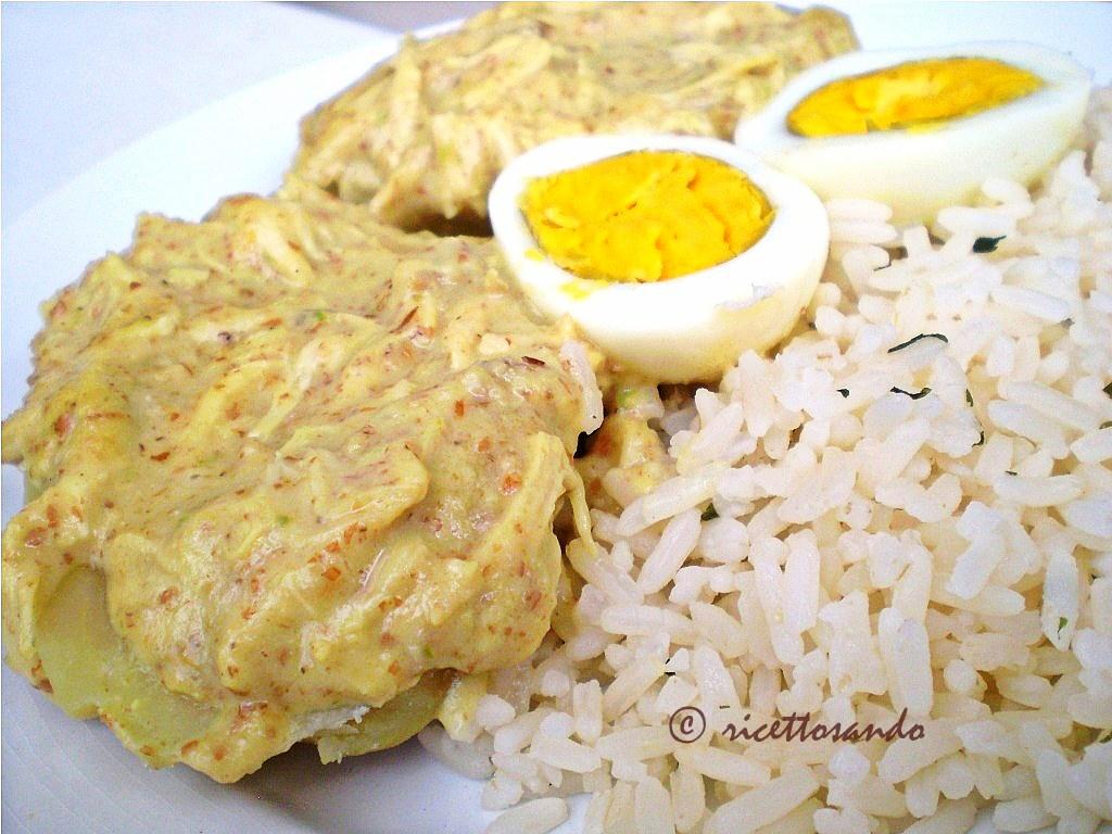 Pollo in  salsa di arachidi ricetta peruviana per una salsa molto particolare