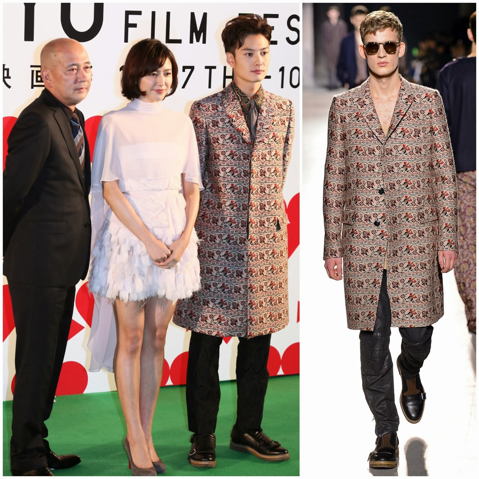 00O00 Menswear Blog: Masaki Okada [岡田将生] in Dries Van Noten - Tokyo International Film Festival October 2013