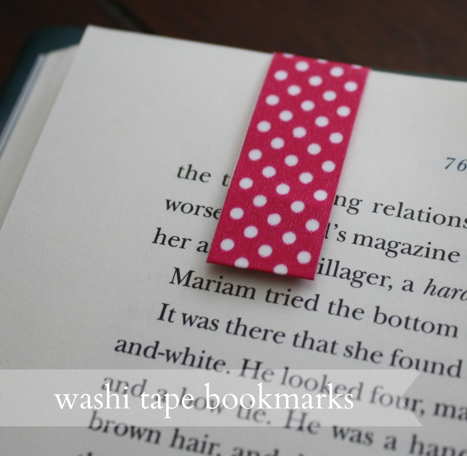 Live a little wilder washi tape bookmarks tutorial for What is washi tape and how do you use it