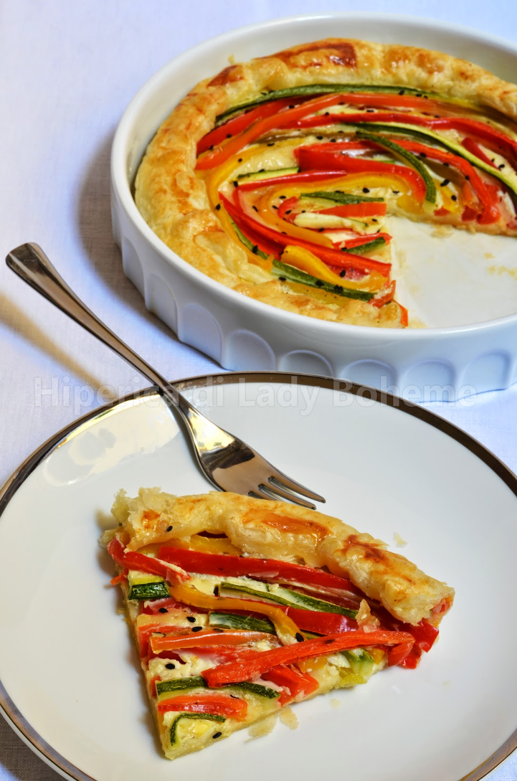 hiperica_lady_boheme_blog_cucina_ricette_gustose_facili_veloci_quiche_estiva_con_peperoni_e_zucchine_2