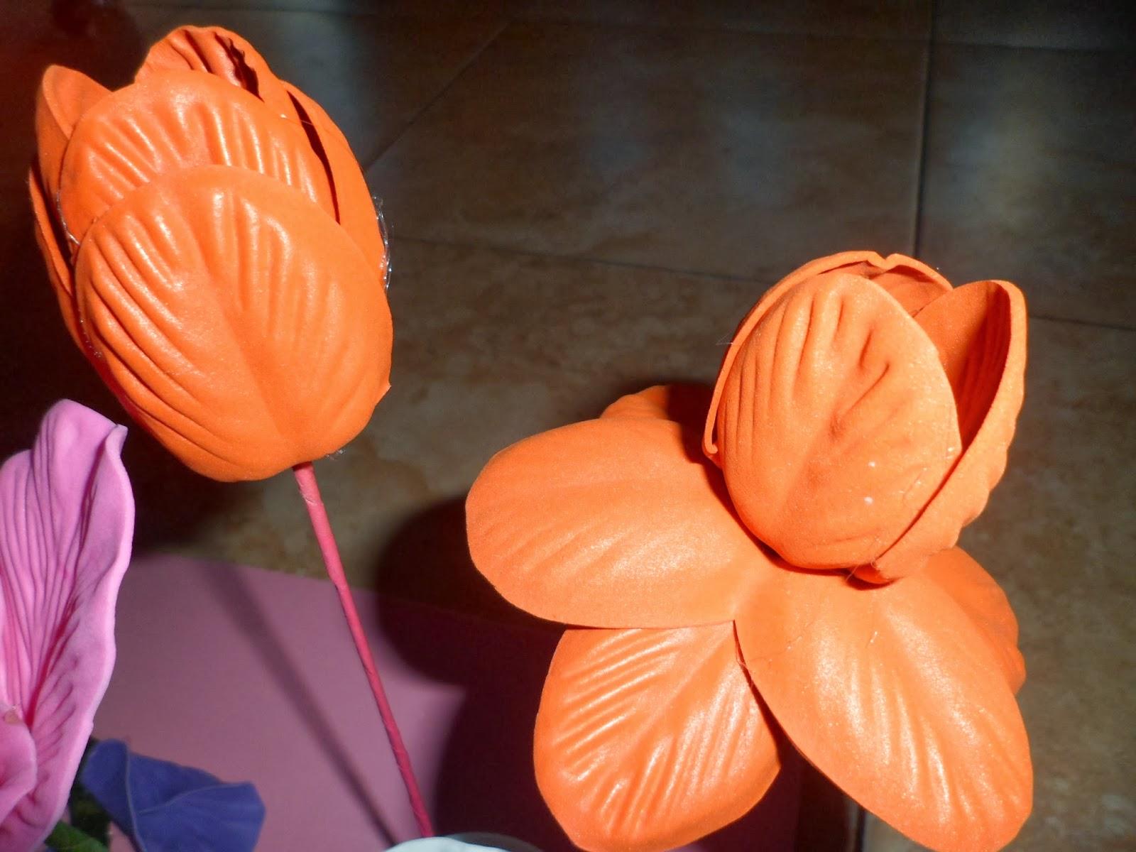 Moldesgomaeva - Flor de goma eva ...