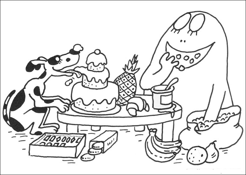 Fun Coloring Pages Barbapapa Coloring