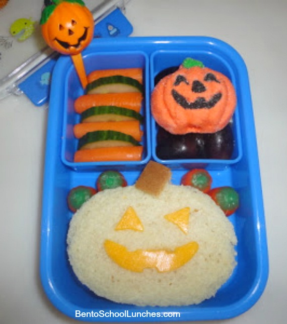 Simple Jack O Lantern lunch
