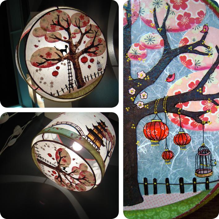 Lilie papiers ciseaux chat et oiseau dans les cerisiers en fleurs de kyoto - Comment faire fuir les oiseaux des cerisiers ...