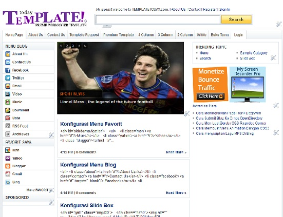 Download Yahoo Template Today Untuk Blogger