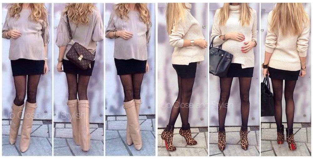 minifalda negra  tacones