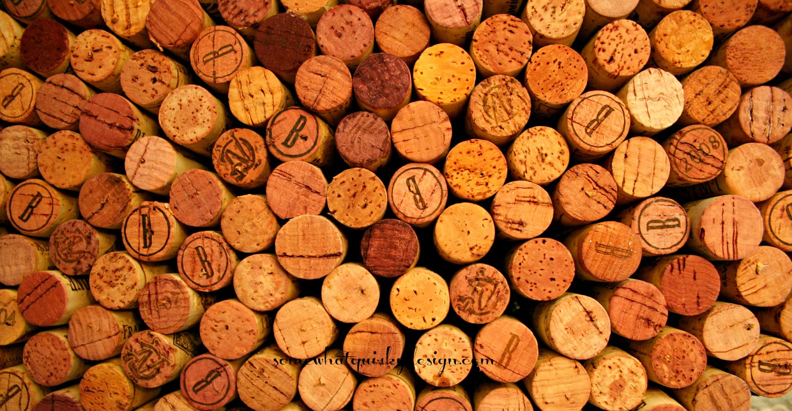 Somewhat Quirky Wine Cork Valentine Heart