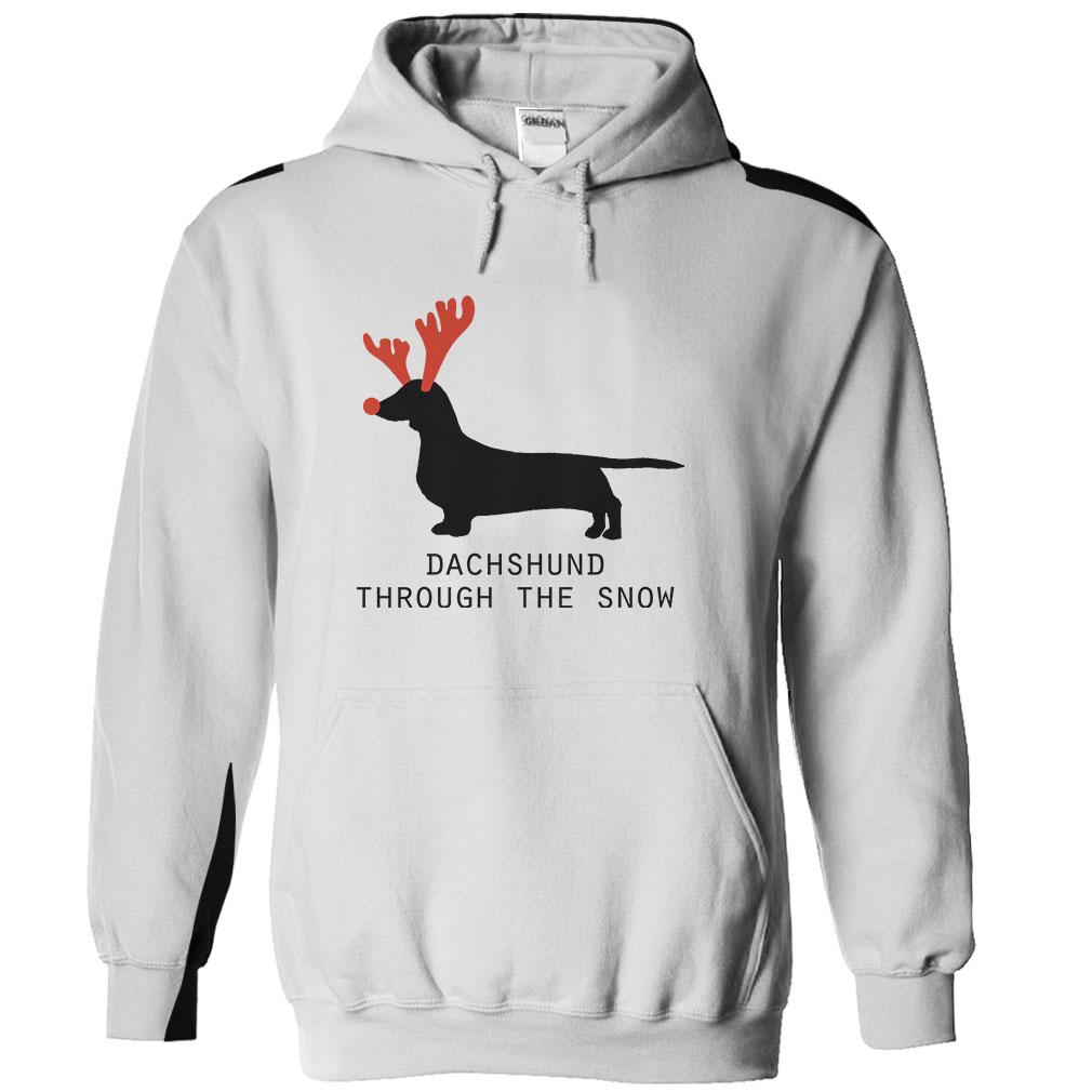 Black xmas t shirt - Dachshund Through The Snow Christmas T Shirt And Hoodie