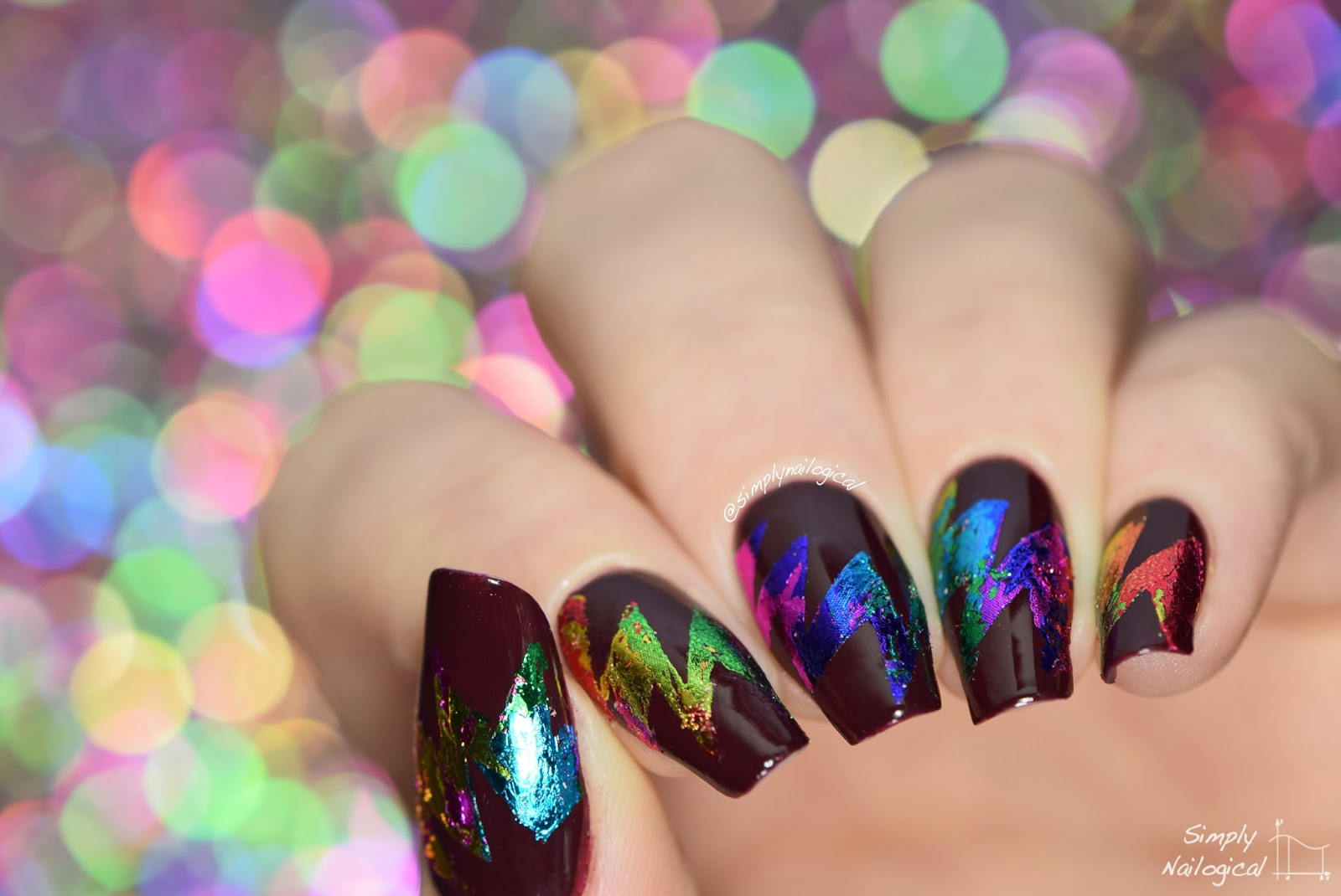 Simply nailogical abstract starburst rainbow foil nail art nail foil glue la colle from ne jolie prinsesfo Gallery