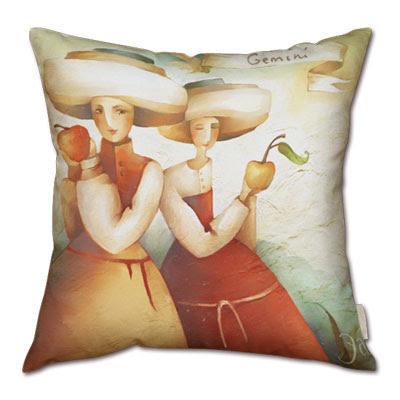 signo zodiacal geminis en almohada