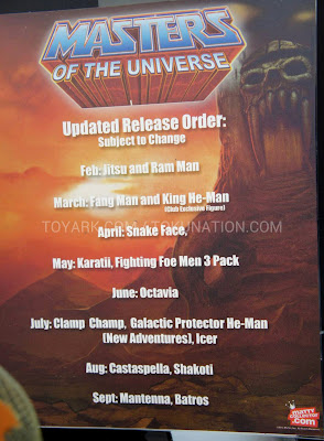 Mattel Matty Collector 2013 Toy Fair Display - Masters of the Universe MOTU Classics 2013 Release Schedule