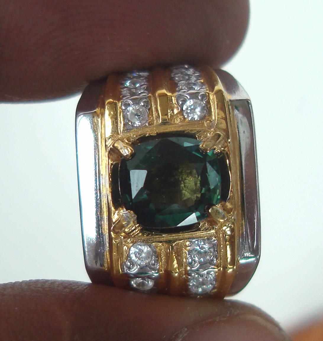 Natural Green Sapphire Corundum