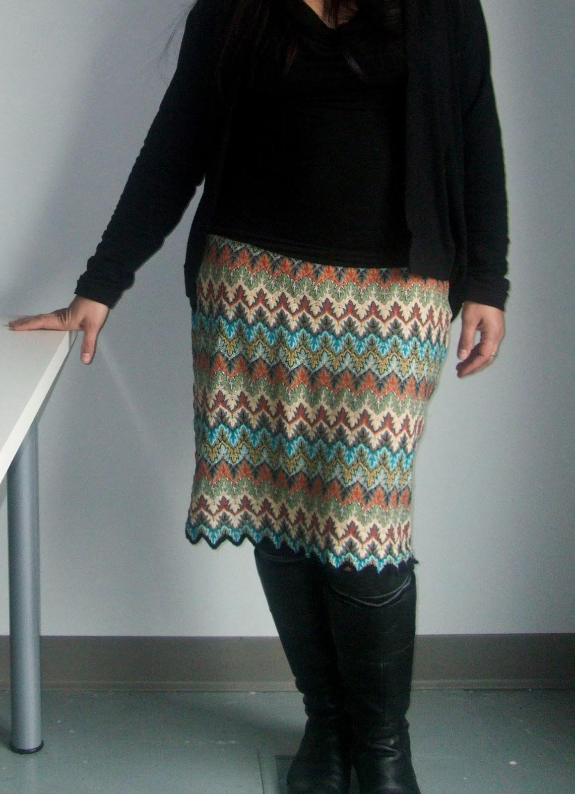 unlikely diy missoni skirt. Black Bedroom Furniture Sets. Home Design Ideas