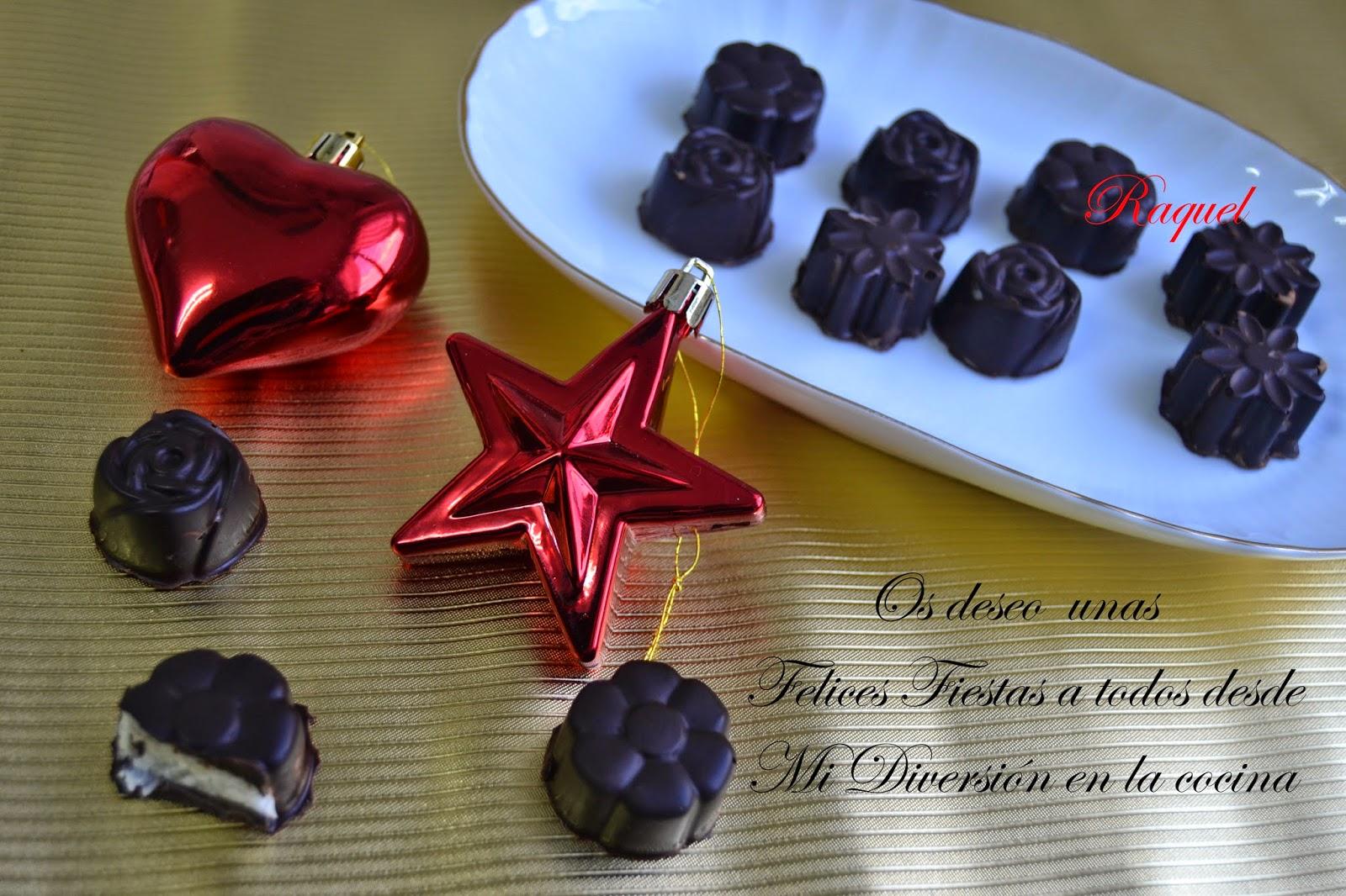 Turrón De Coco Con Chocolate Negro Y Bombones