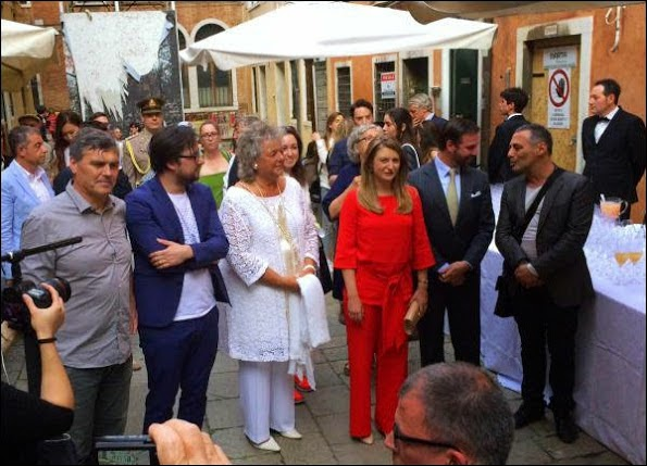 Princess Stephanie And Prince Guillaume At The Biennale Art Festival In Venice