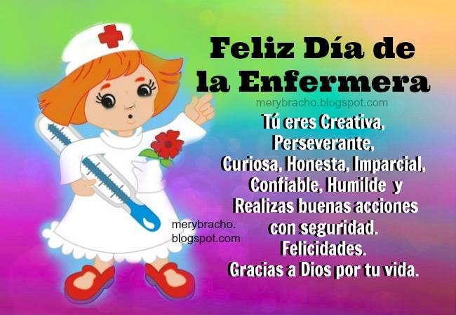 Feliz Dia De La Enfermera Imagen Linda Del  Mayo Imagenes Postales Para Dia