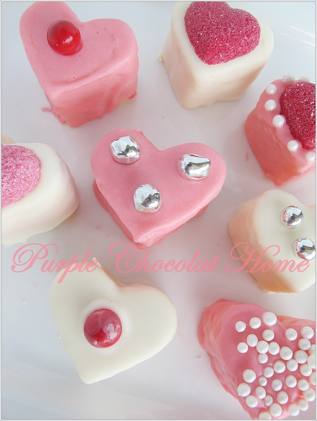 Valentine's Petit Fours - Purple Chocolat Home