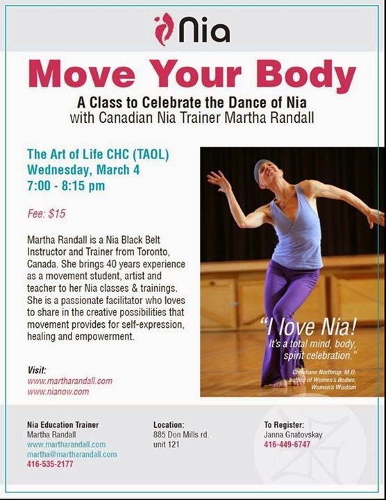Nia Class: Experience Healing, Freedom, Connection and Joy in Movement: March 4