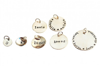 hand stamped charms