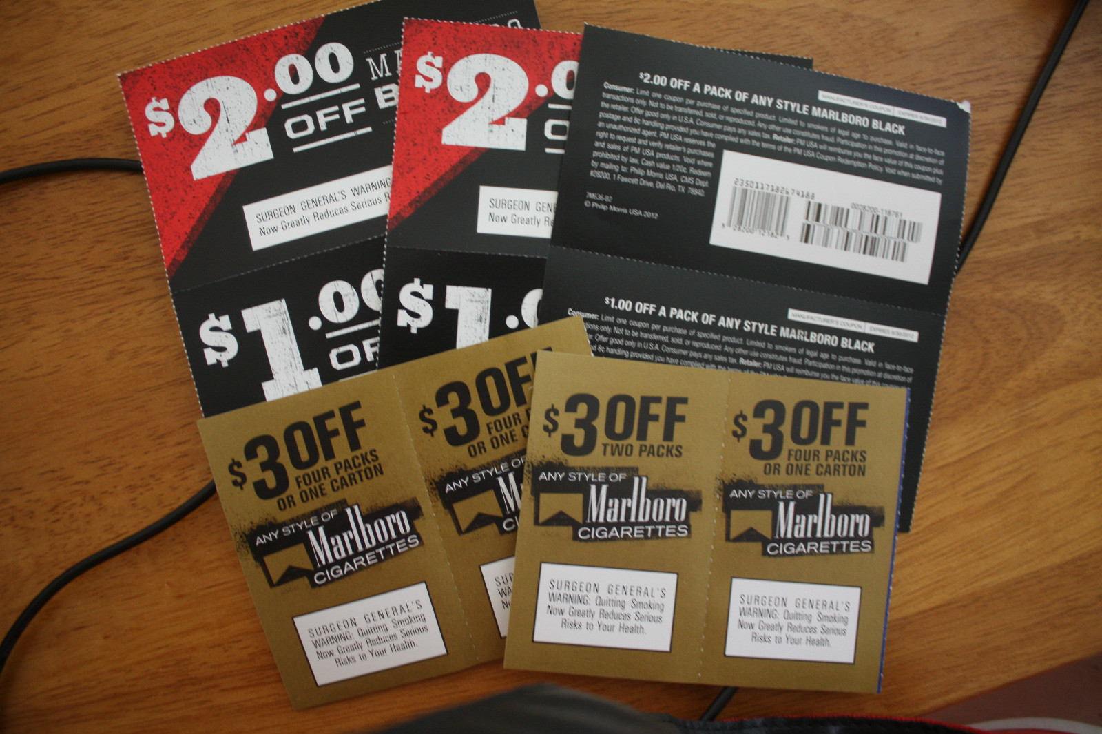Get free cigarette coupons in the mail