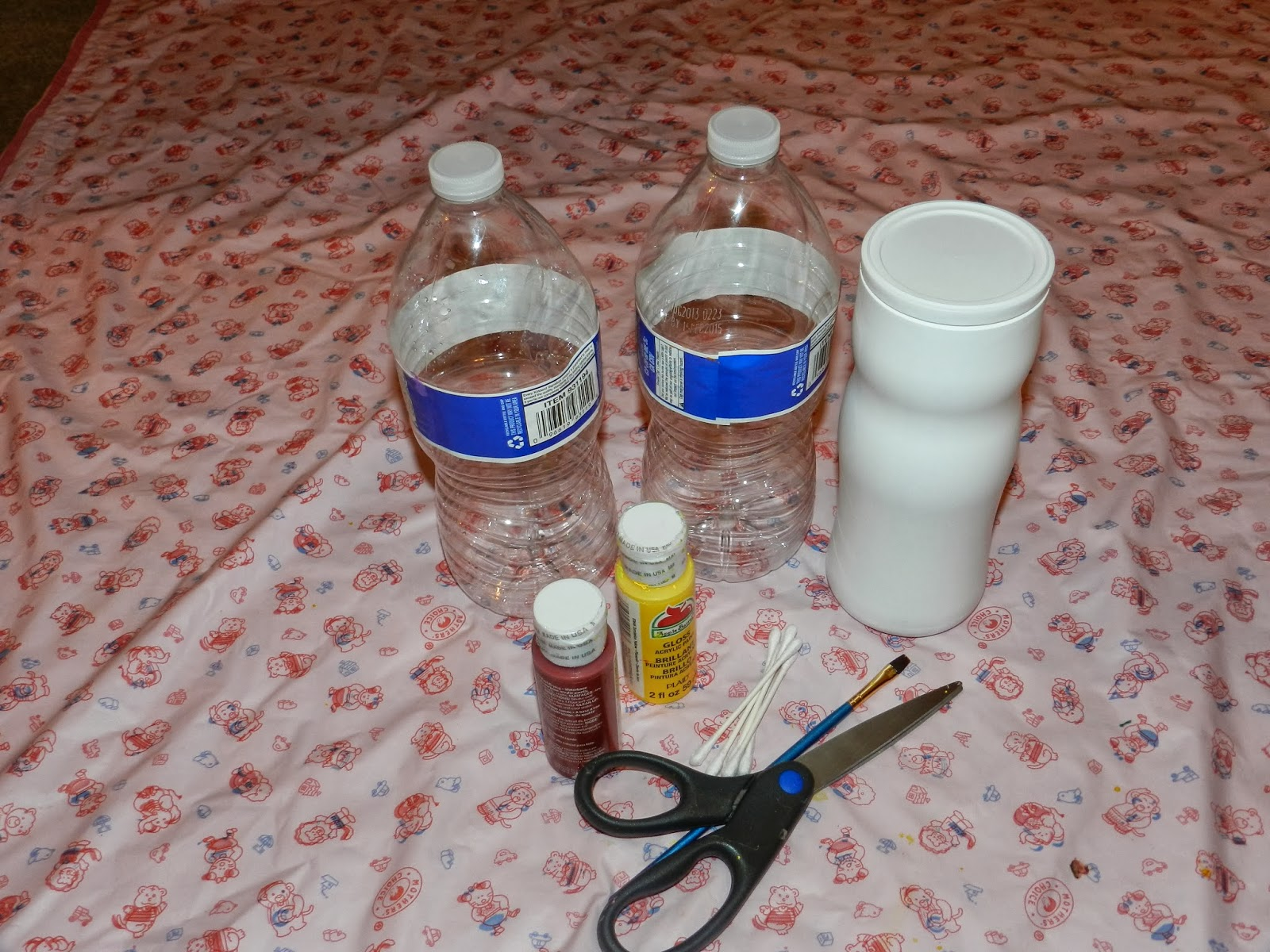 Creative diy crafts cute flower vase with empty water for Empty bottle craft