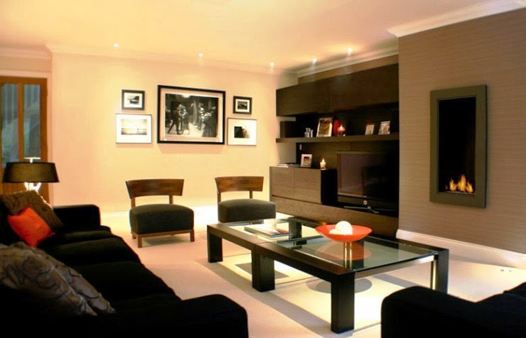 paint colors for living room walls with black furniture