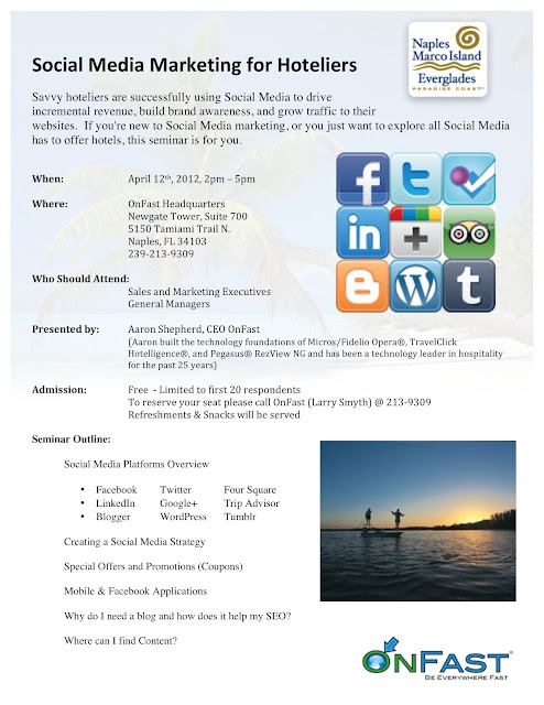 Social Media Marketing for Hoteliers / Hotels