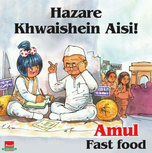 ... Advertisement by Amul on Anna Hazares Wish for Corruption Free INDIA