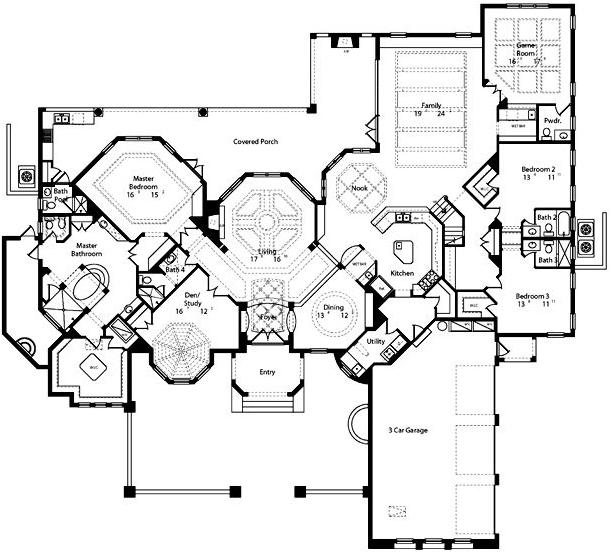 مخططات منازل دور واحد http://decoratingmanazel.blogspot.com/2013/01/plans-dora-wahed.html
