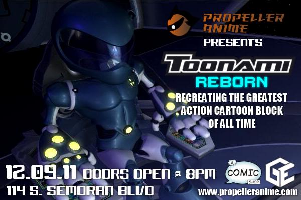 propeller anime propeller anime presents toonami reborn on 12 9