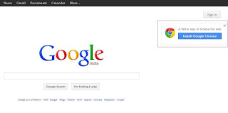 Remove the annoying Install Google Chrome in Google Search homepage
