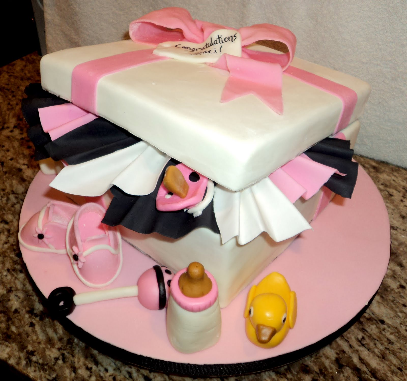Baby Shower Gift Box Cake