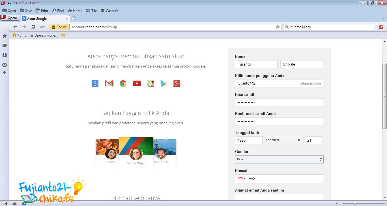 Cara Membuat Akun Email Baru Di Gmail Gratis | Fujianto21