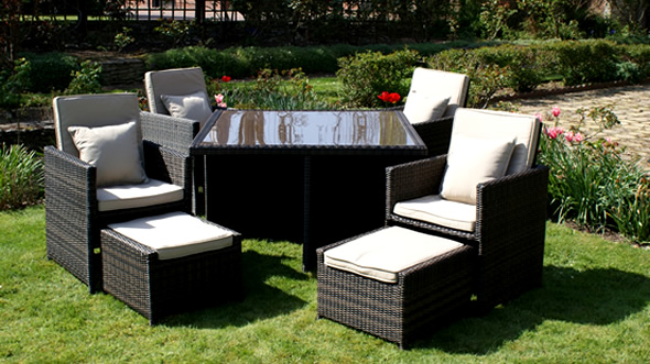 home and garden: Rattan garden furniture, Perfect Rattan garden furniture, M Arizona Natural Set ...