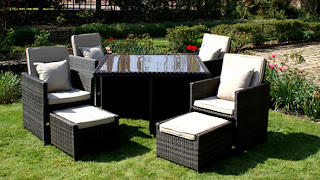 Rattan Furniture Outdoor Garden Maze Cube Sets 5 Piece