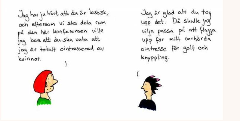 flickvän kan inte komma Visby