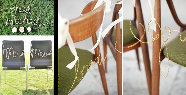 Letras decorativas de alambre o cuerda