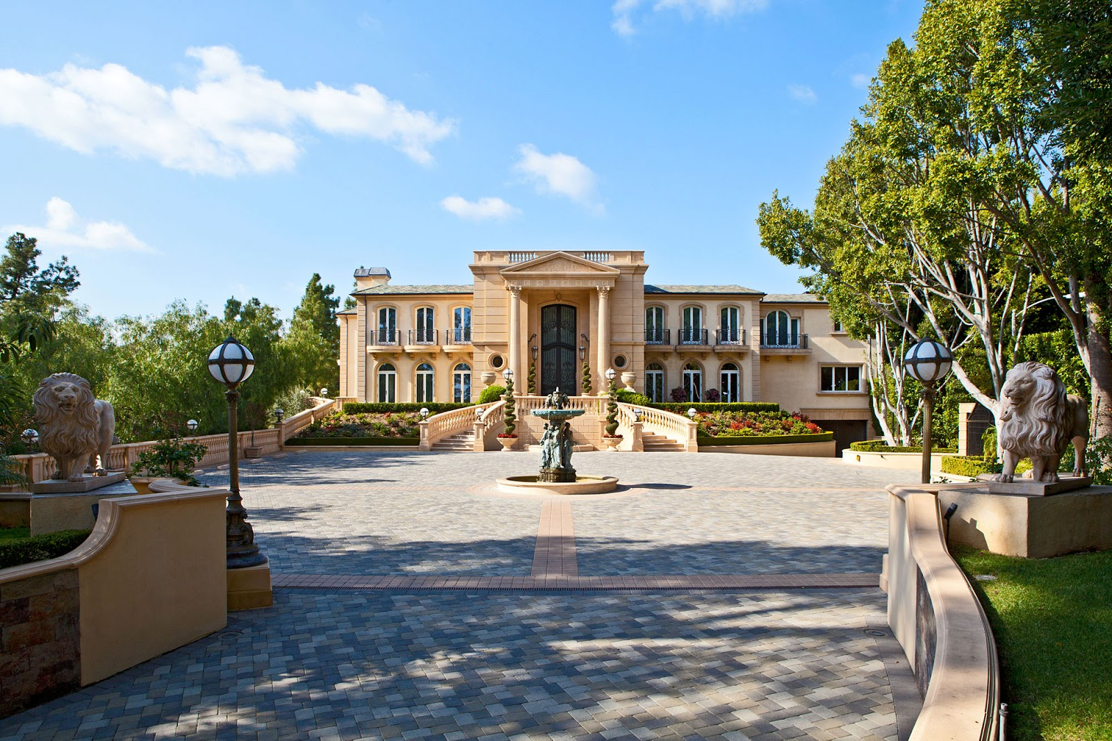 Homes Mansions Lavish Beverly Hills Estate