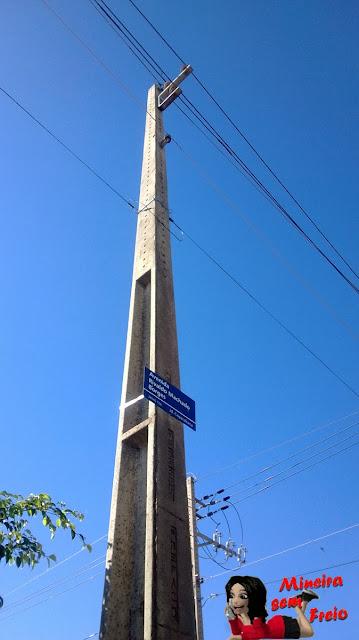 Acidente no bairro Copacabana em Uberaba