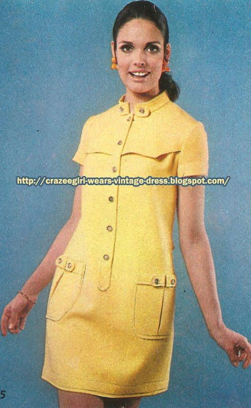 Yellow dress - Chloé - 1967 60s 1960