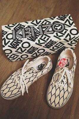Kenzo x Vans Fishnet Print Sneakers - ShopMyCloset