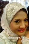 Pn Sabrinah with Canteksekali Customade Anak Tudung Nikah