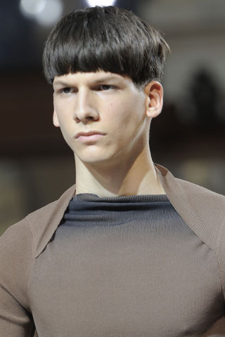 Lanvin Men hairstyle summer 2012