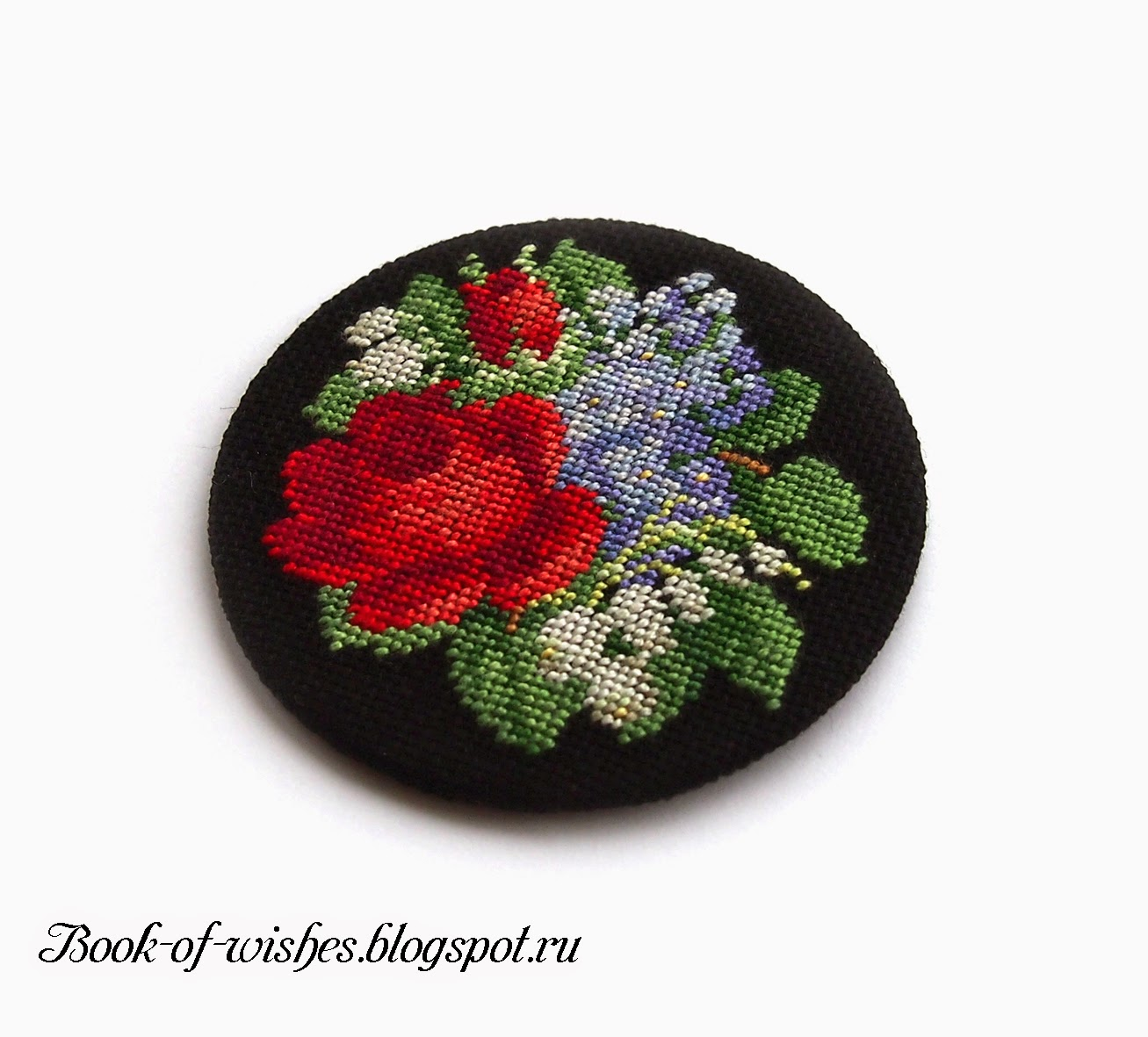 vintage flowers embroidery
