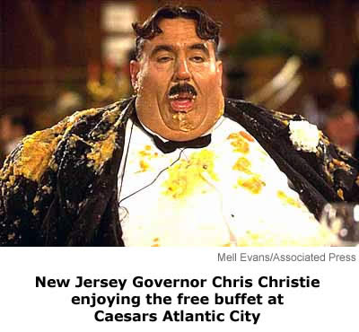 new jersey governor Chris Christie too fat to be President
