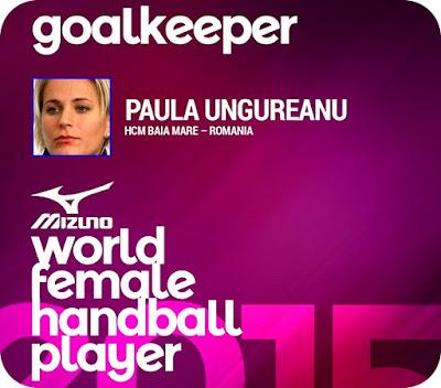 Paula Ungureanu, cel mai bun portar din lume