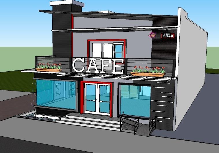 Contoh Desain Rumah Cafe Buatan Sendiri